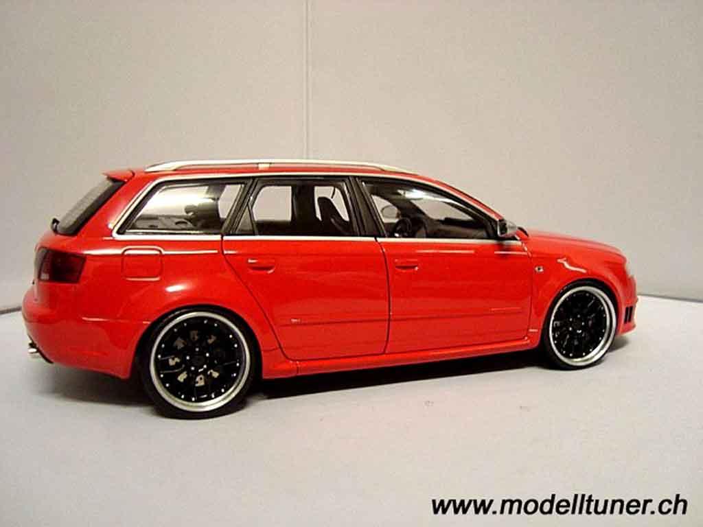Audi RS4 1/18 Minichamps avant red jantes 19 pouces bbs rs