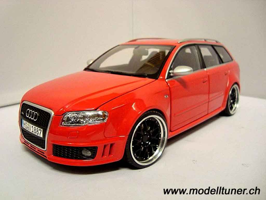 Audi RS4 1/18 Minichamps avant red jantes 19 pouces bbs rs tuning diecast model cars