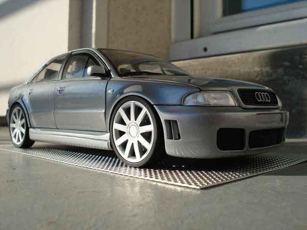 Audi Tuning S4 V6 Bi Turbo Gray Wheels 18 Inches Cast Model Car