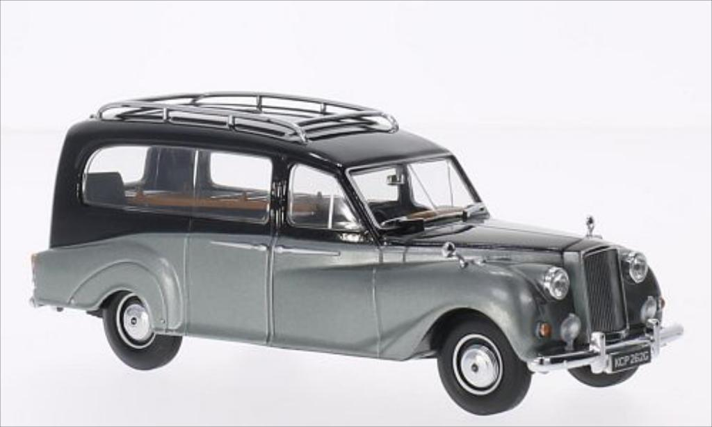 Austin Princess 1/43 Oxford Hearse noire/metallic-grise RHD