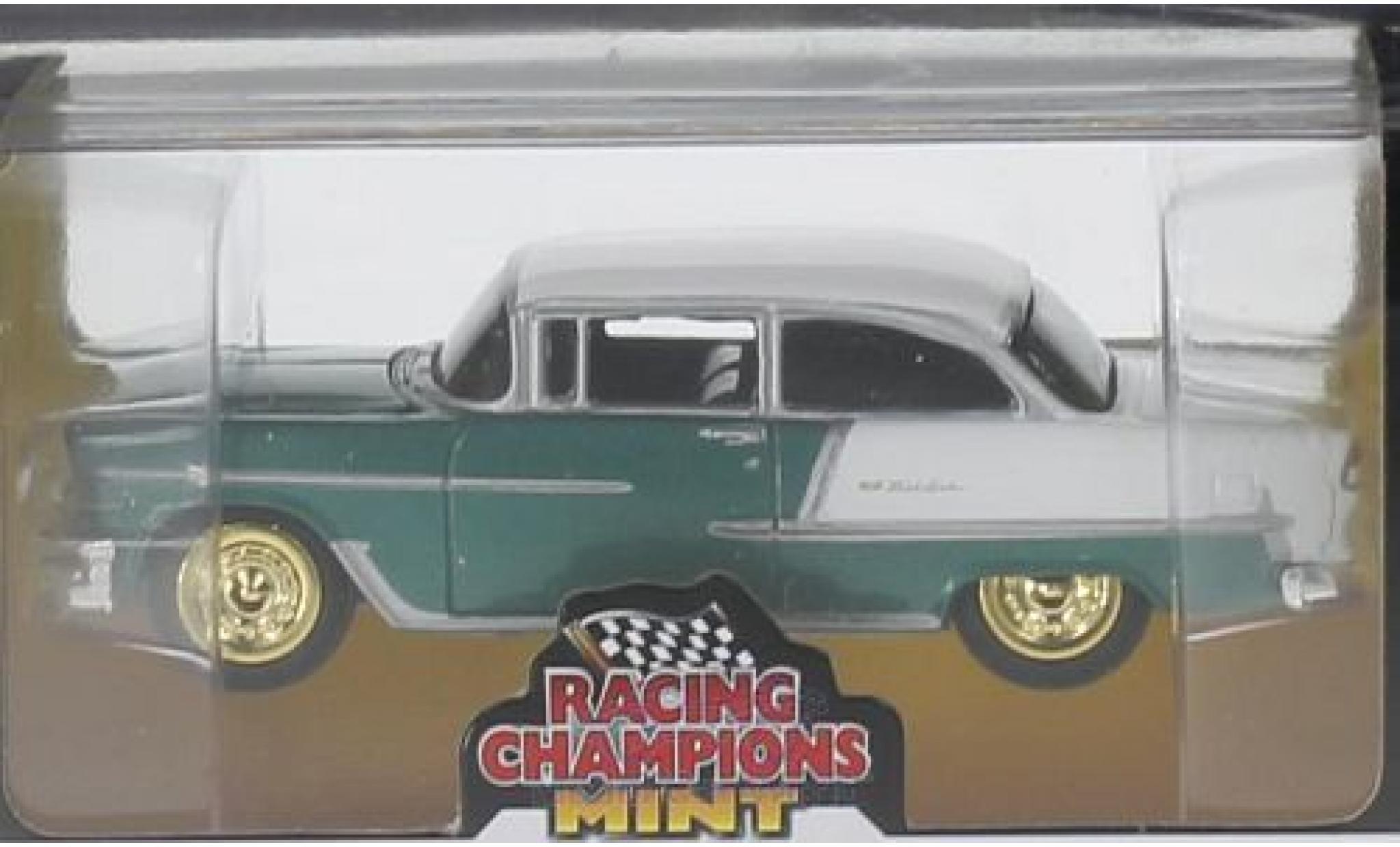 Chevrolet Bel Air 1/64 Auto World matt-türkis/matt-blanche 1955 goldene Felgen