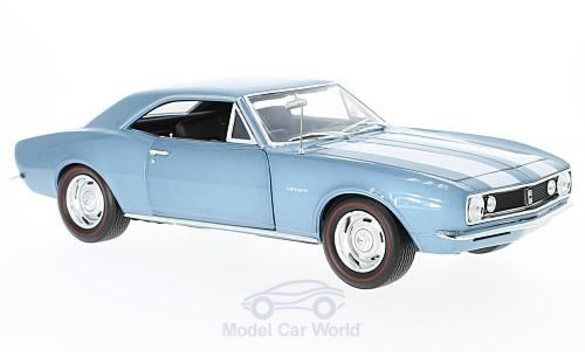 Chevrolet Camaro 1/18 Auto World Z28 métallisé bleue 1967 50th Anniversary ohne Vitrine