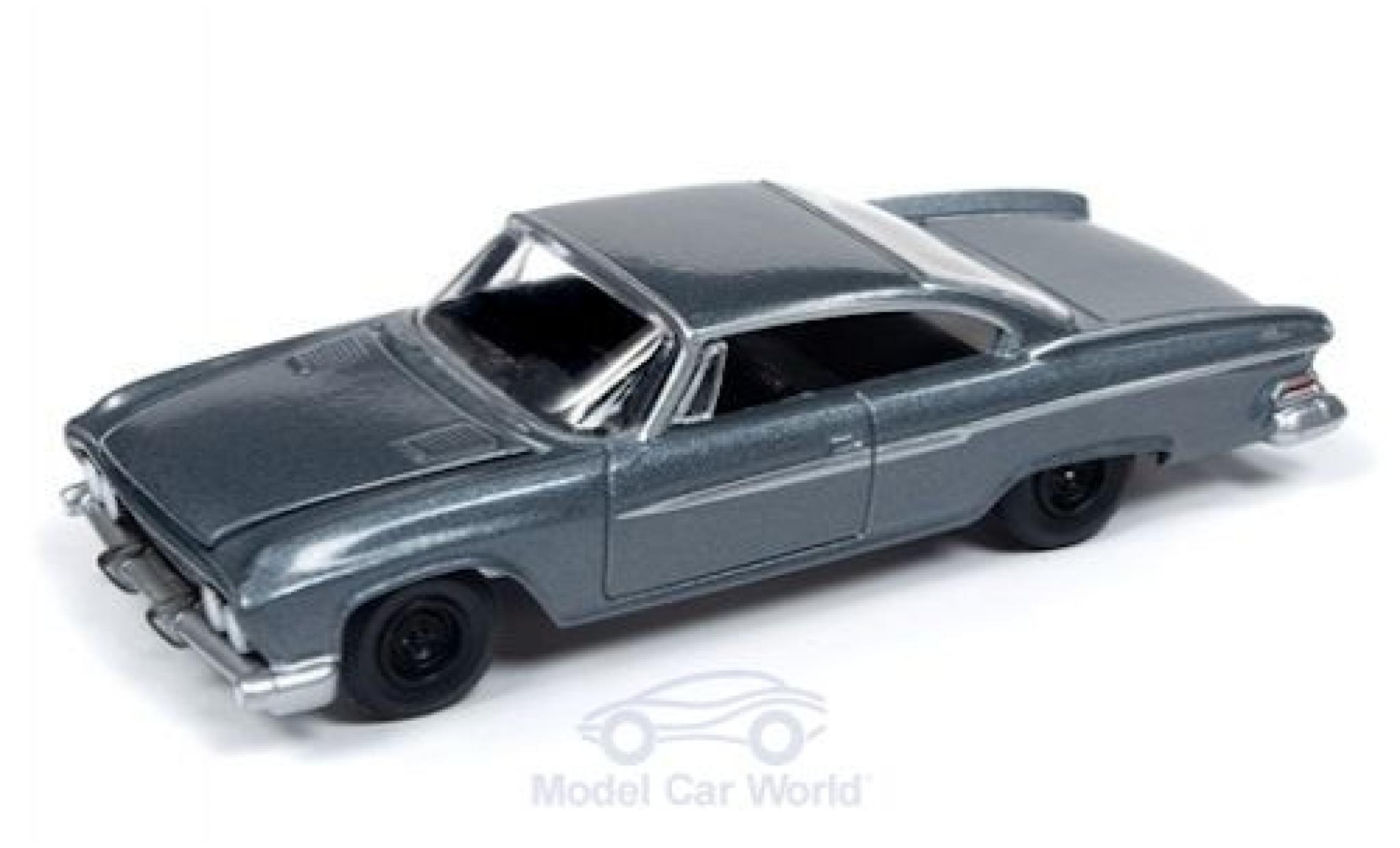 Diecast Model Cars Dodge Dart 1 64 Auto World Phoenix Metallise Grey 1961 Premium Series Release 3 Version B Alldiecast Co Uk