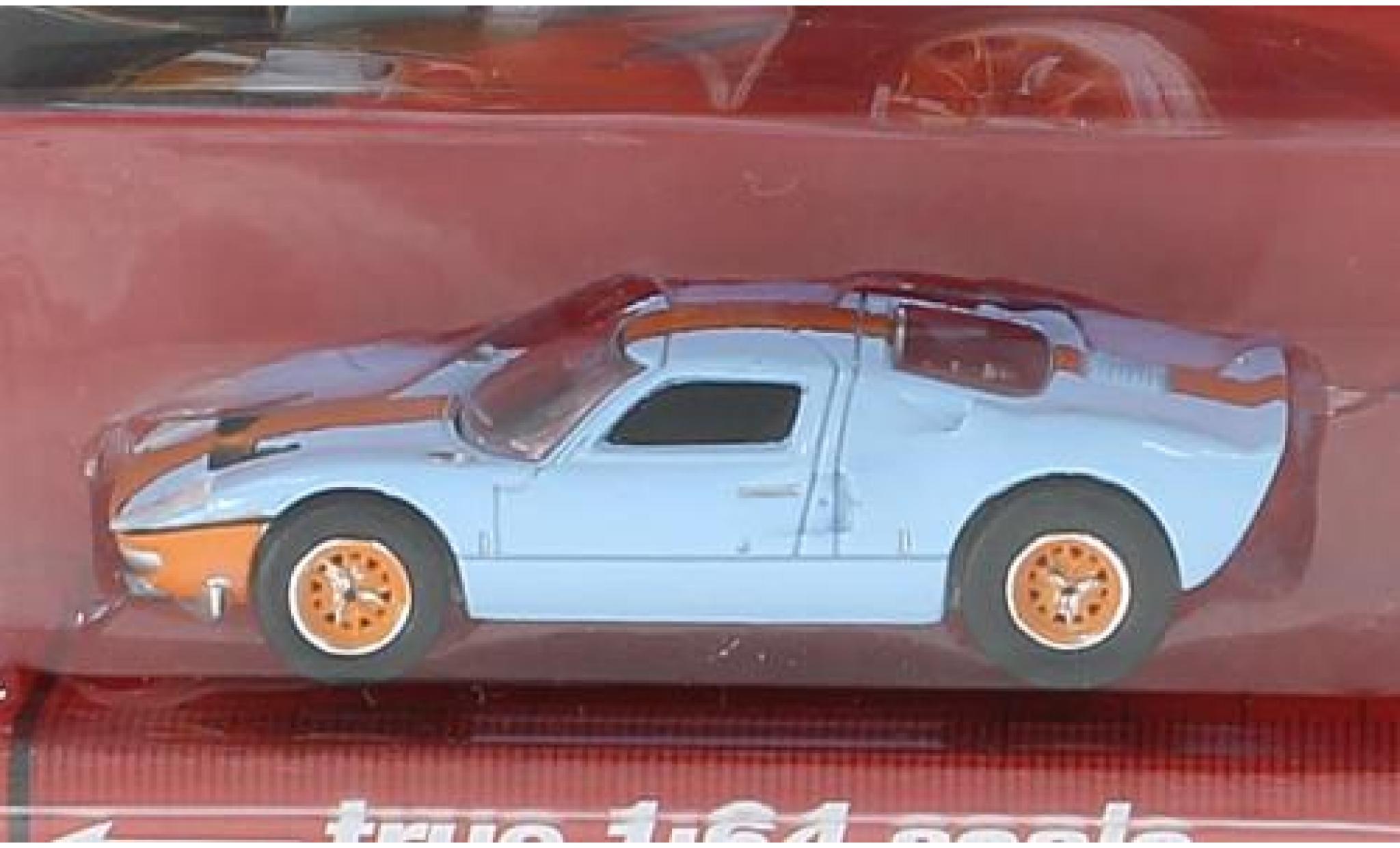 Ford GT40 1/64 Auto World bleue/orange 1965