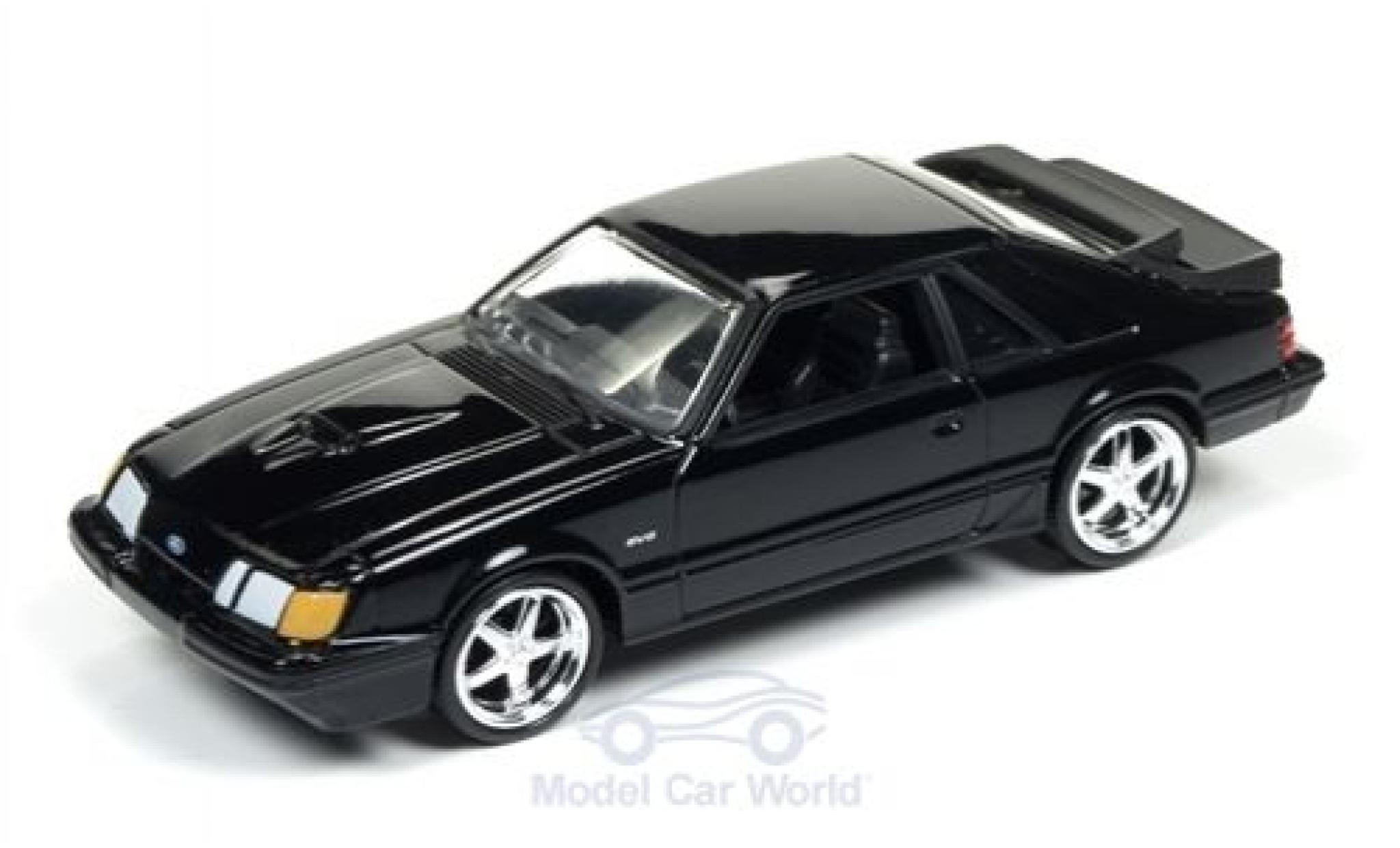 Ford Mustang 1/64 Auto World SVO noire 1985