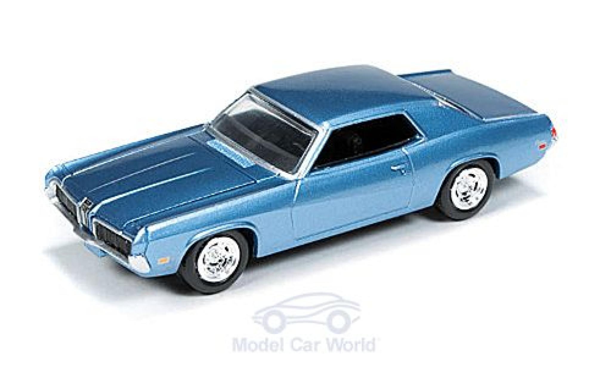 Mercury Cougar 1/18 Auto World metallise bleue 1970 ohne Vitrine
