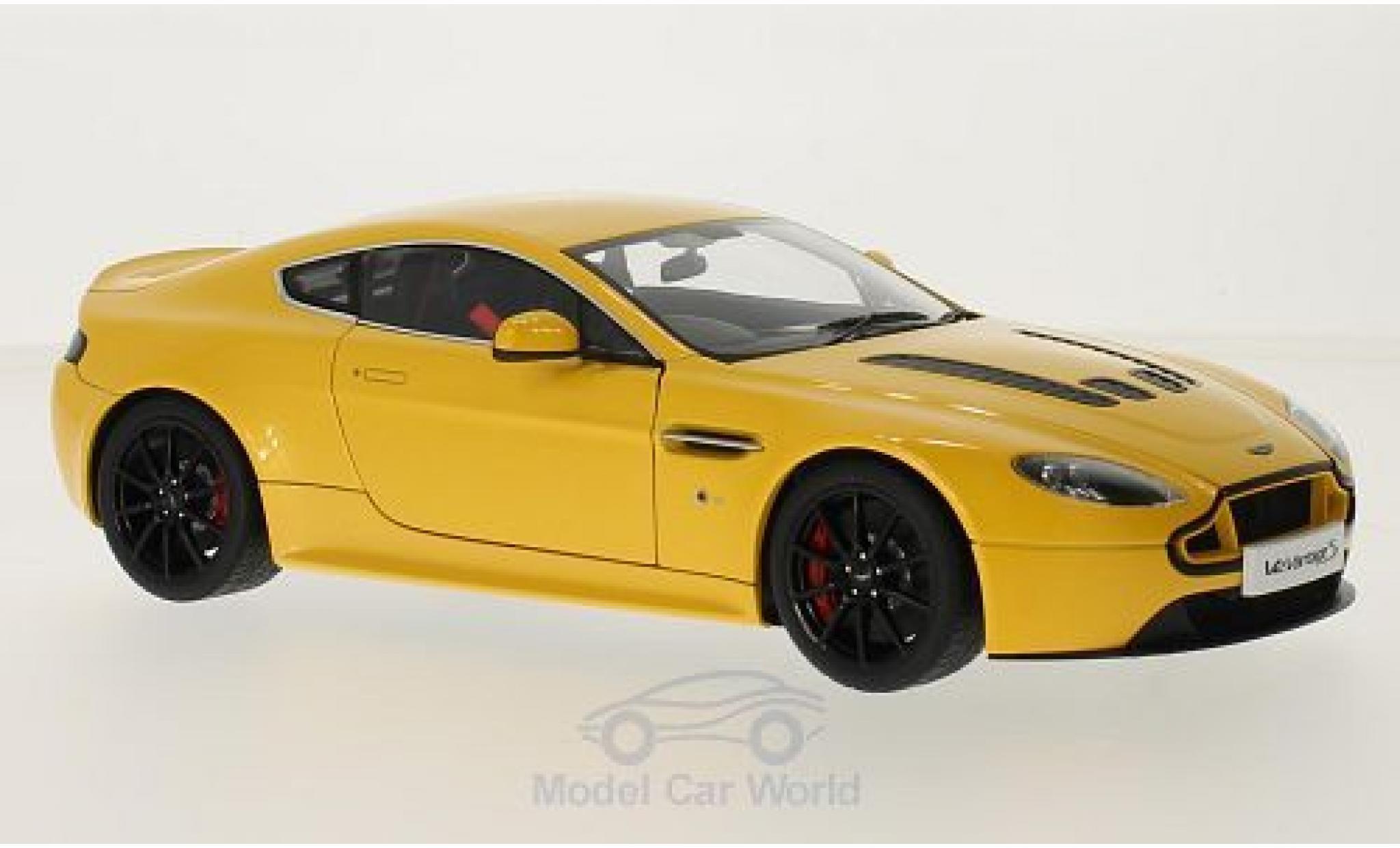 Aston Martin V12 1/18 AUTOart Vantage S métallisé jaune RHD
