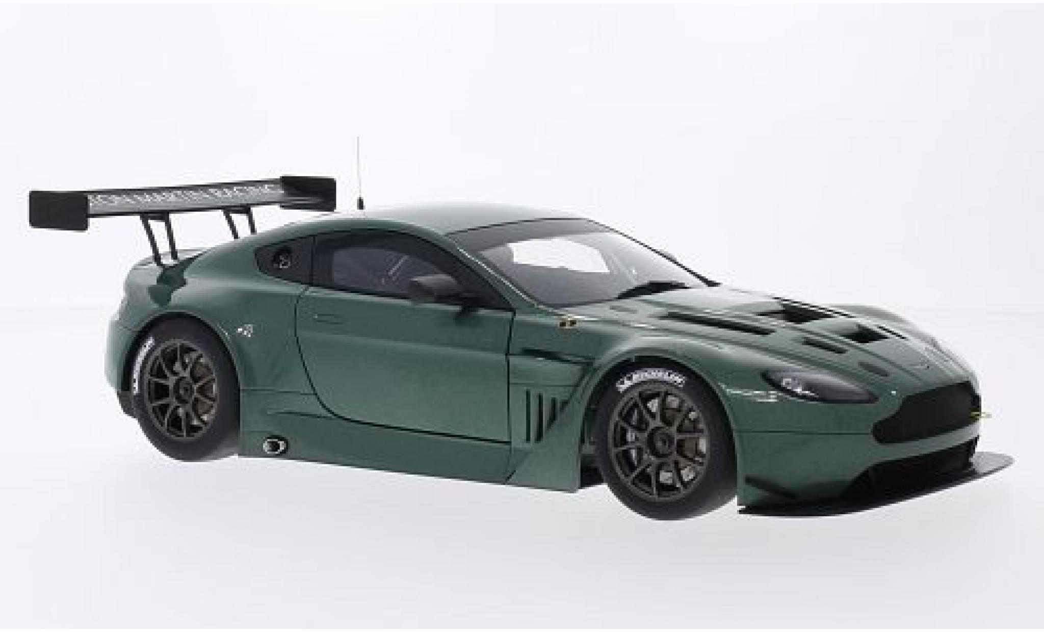Aston Martin Vantage 1/18 AUTOart V12 GT3 metallise verte 2013 Plain Body Version