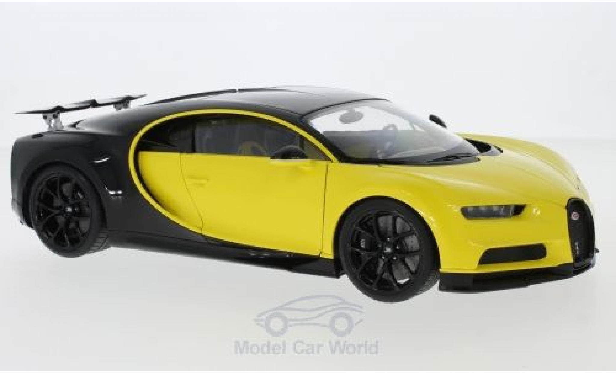 Bugatti Chiron 1/18 AUTOart jaune/noire 2017