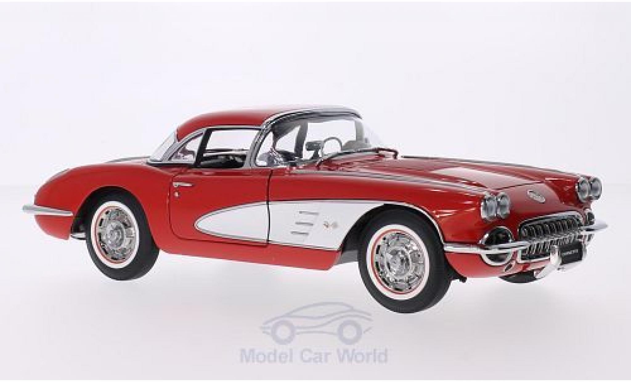 Chevrolet Corvette C1 1/18 AUTOart  red/white 1958 Hardtop liegt bei