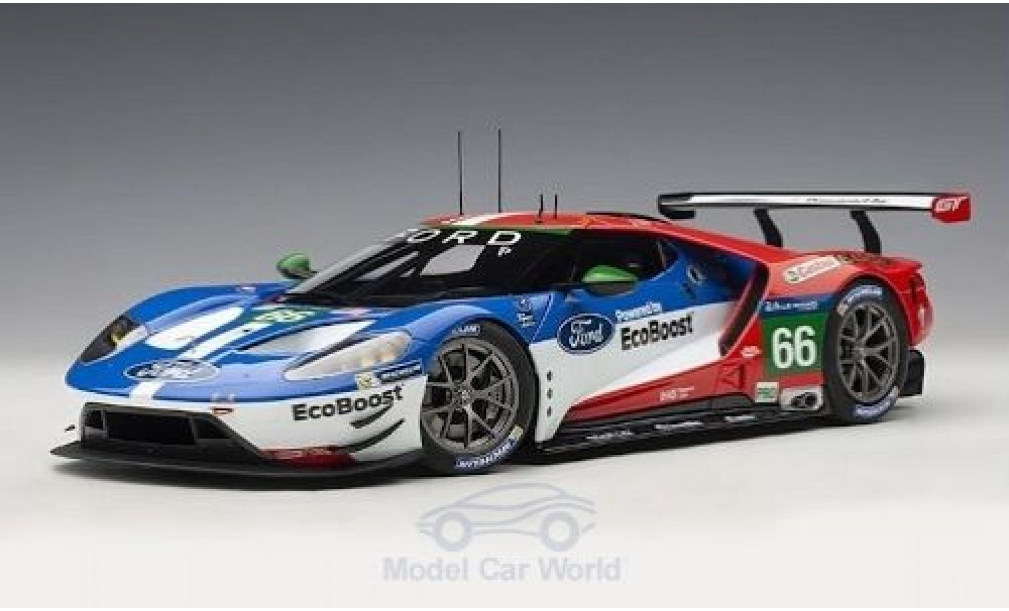 Ford GT 1/18 AUTOart No.66 Chip Ganassi Racing UK 24h Le Mans 2016 B.Johnson/S.Mücke/O.Pla