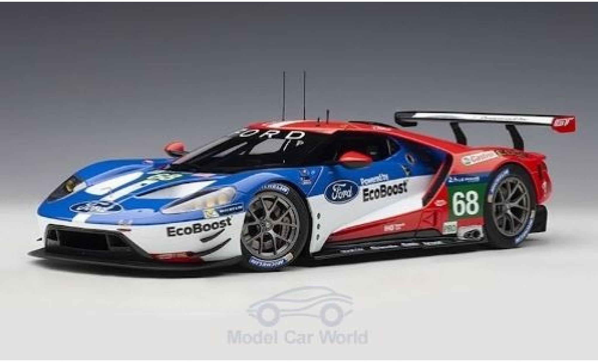 Ford GT 1/18 AUTOart No.68 Chip Ganassi Racing USA 24h Le Mans 2016 J.Hand/D.Müller/S.Bourdais