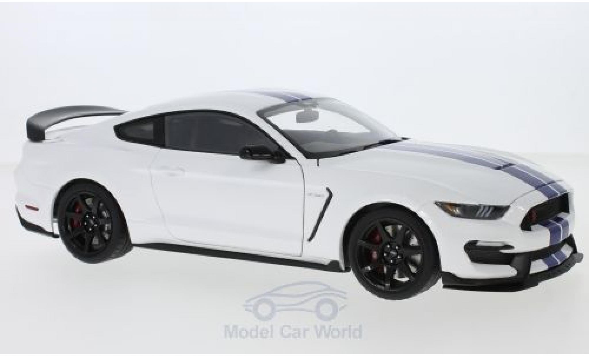 Ford Mustang 1/18 AUTOart Shelby GT-350R white/blue 2017