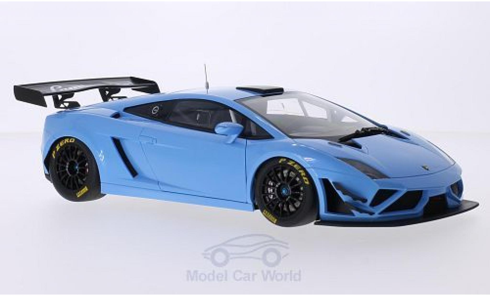 Lamborghini Gallardo 1/18 AUTOart GT3 FL2 metallic-hellblue 2013 Plain Body Version