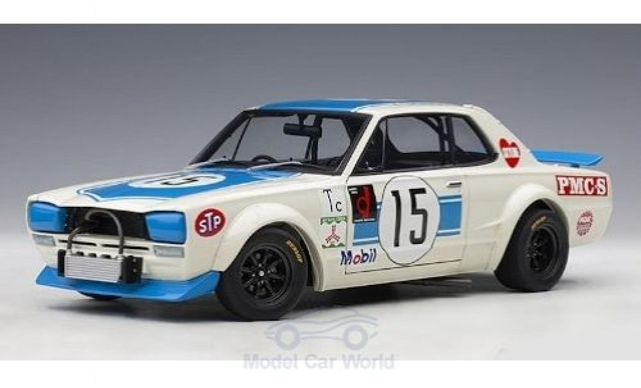 Nissan Skyline 1/18 AUTOart GT-R (KPGC-10) RHD No.15 300 KM Fuji Speed Race 1972 K.Takahashi