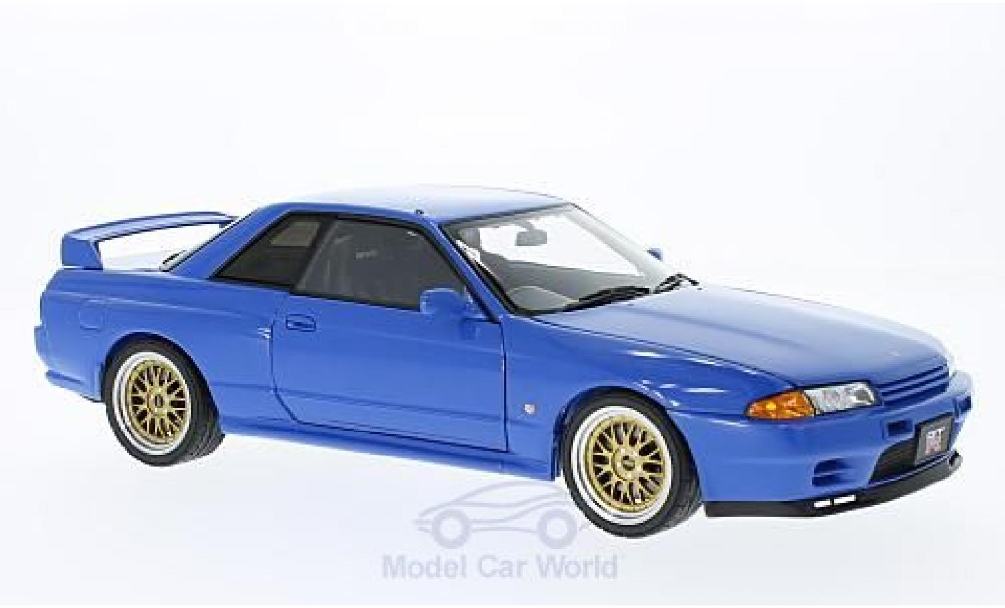 Nissan Skyline 1/18 AUTOart GT-R (R32) V-Spec II bleue RHD Tuned Version