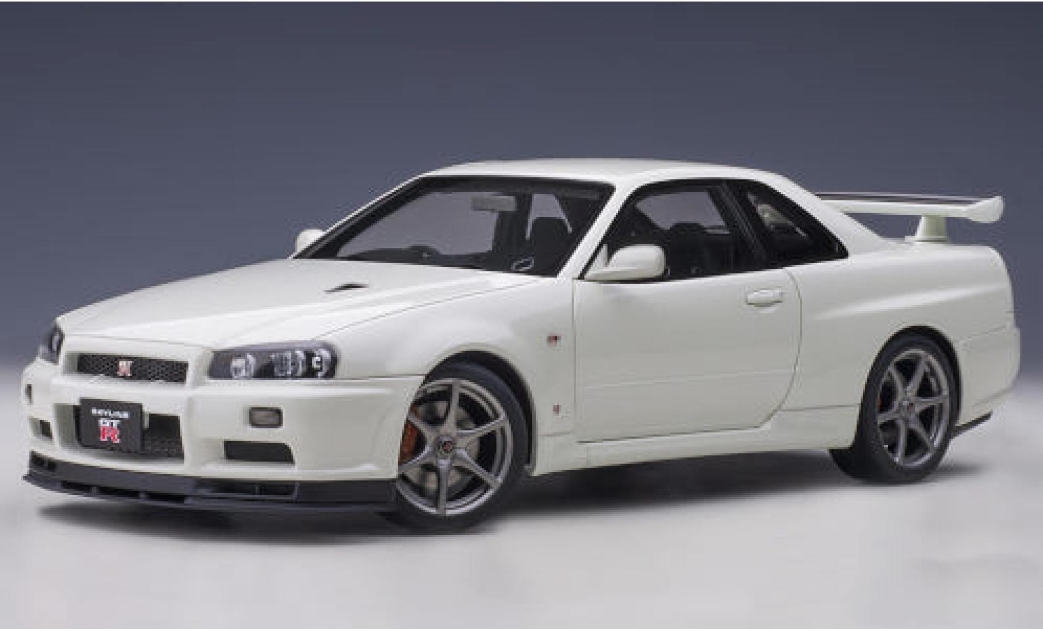 Nissan Skyline 1/18 AUTOart GT-R (R34) V-Spec II metallise blanche RHD