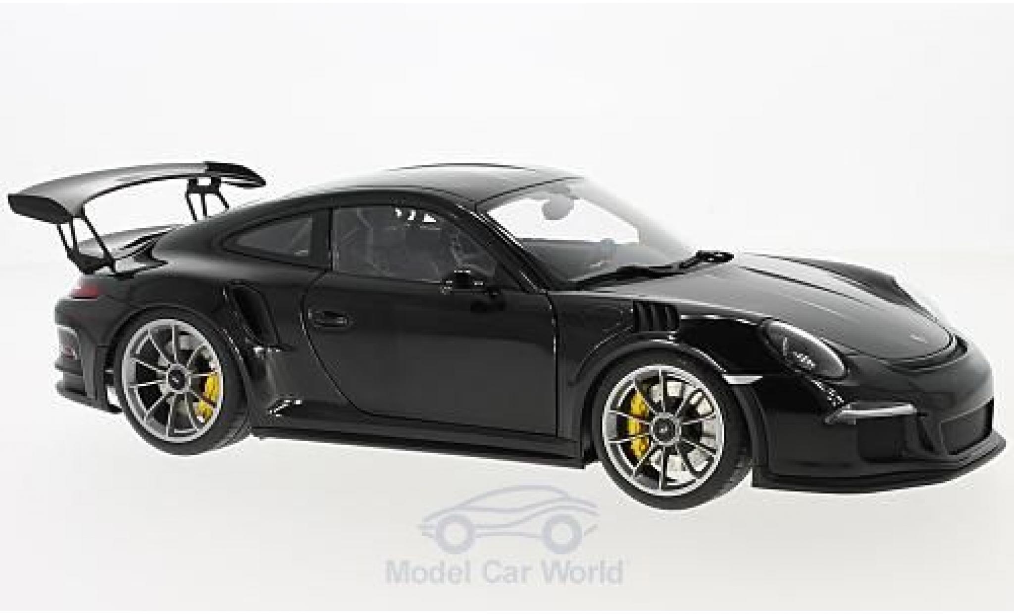 Porsche 991 GT3 RS 1/18 AUTOart 911  black 2016