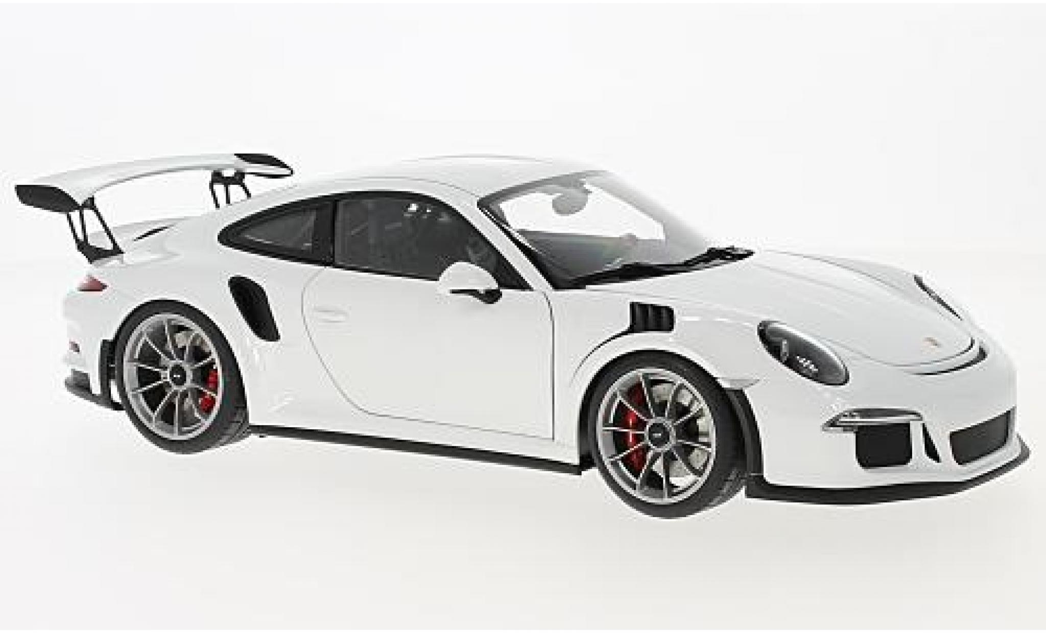 Porsche 991 GT3 RS 1/18 AUTOart 911  white 2016
