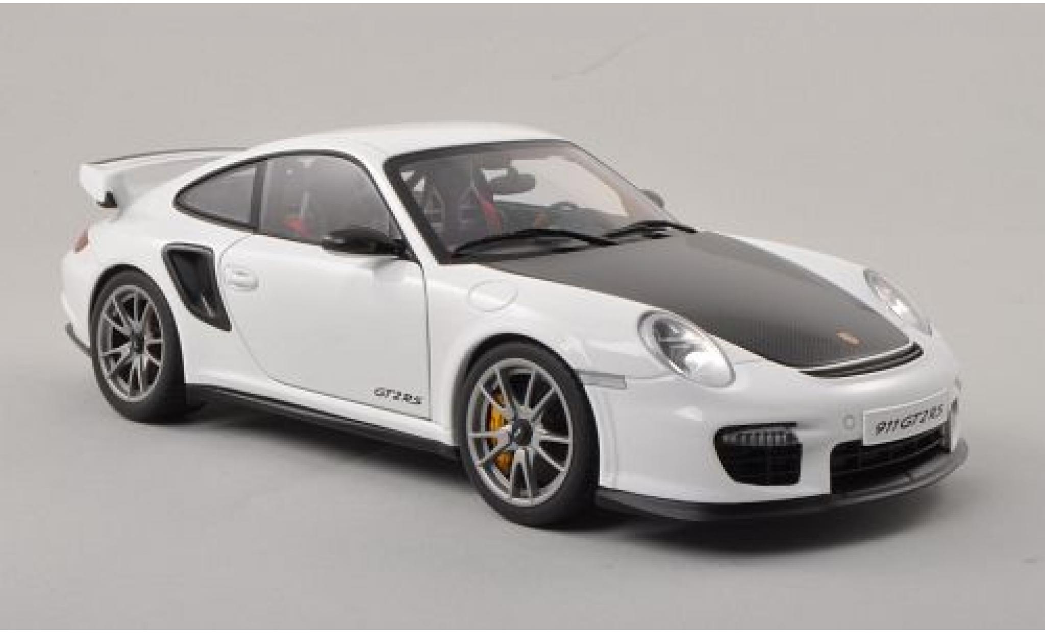 Porsche 997 GT2 RS 1/18 AUTOart 911  blanche/carbon 2010