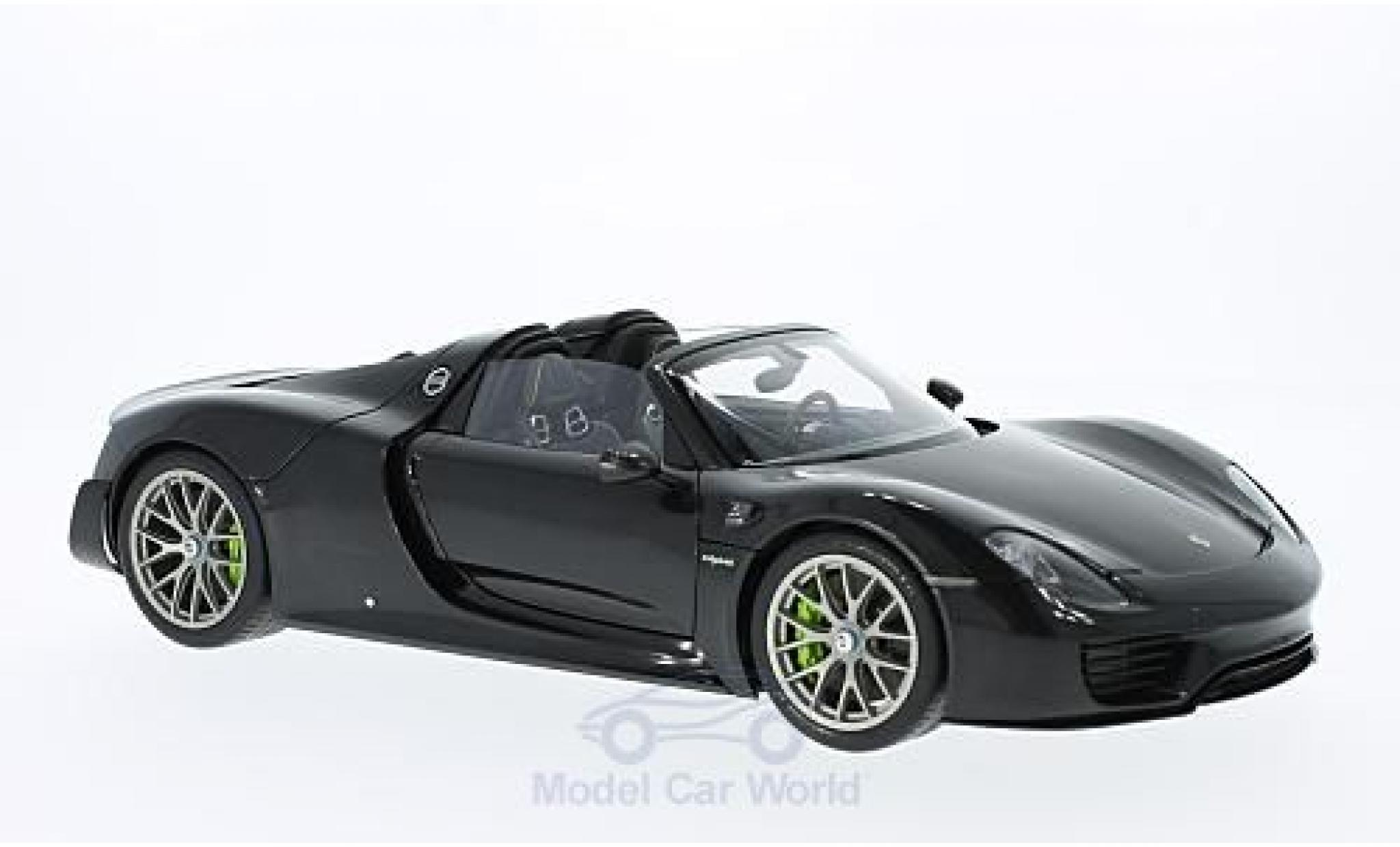 Porsche 918 2013 1/18 AUTOart Spyder metallic-noire 2013