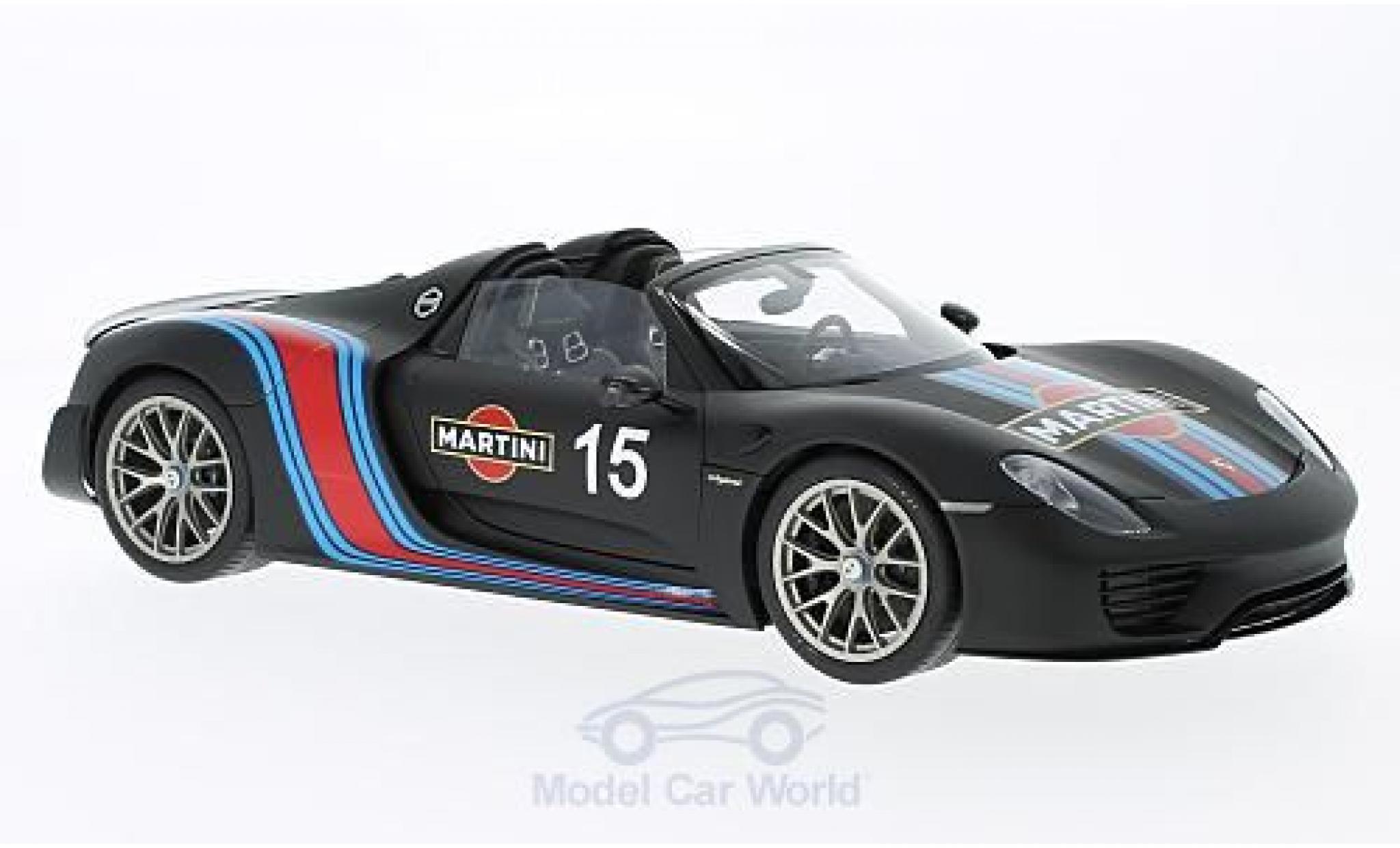 Porsche 918 2013 1/18 AUTOart Spyder black Martini 2013 Weissach Package