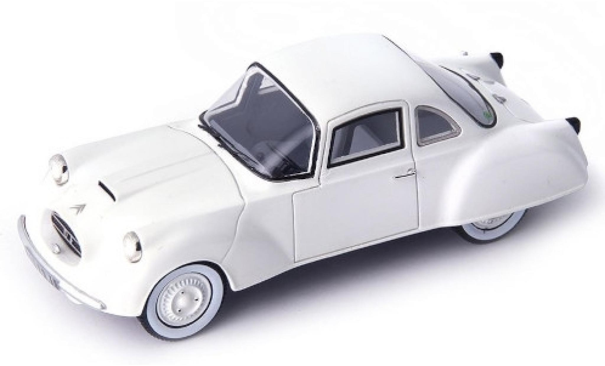 Citroen 2CV 1/43 AutoCult DF Coupe blanche 1956