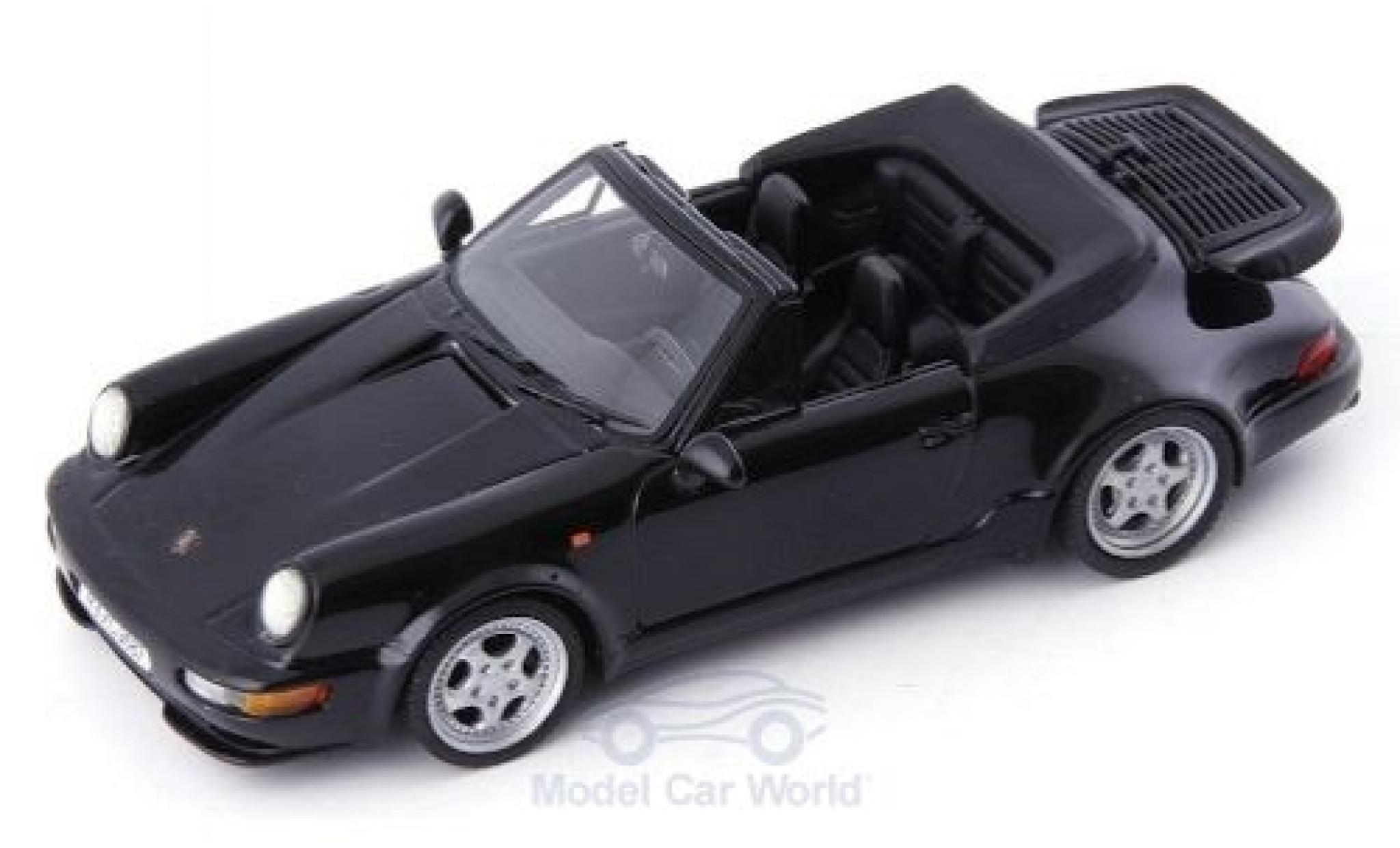 Porsche 911 1/43 Autocult/Avenue 43 (964) Turbo Cabriolet noire 1993