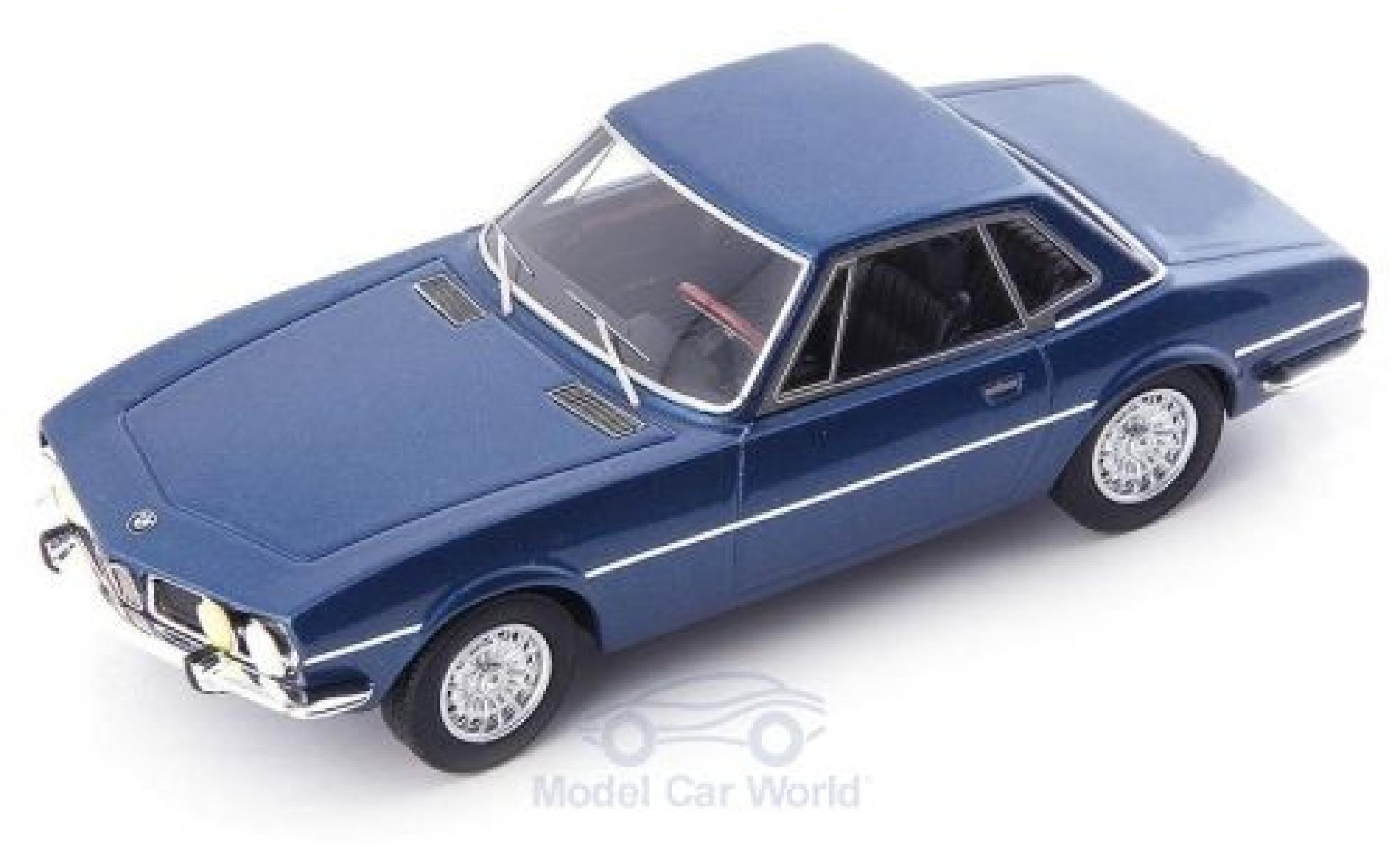Bmw 1600 1/43 AutoCult ti Coupe Paul Bracq bleue 1969