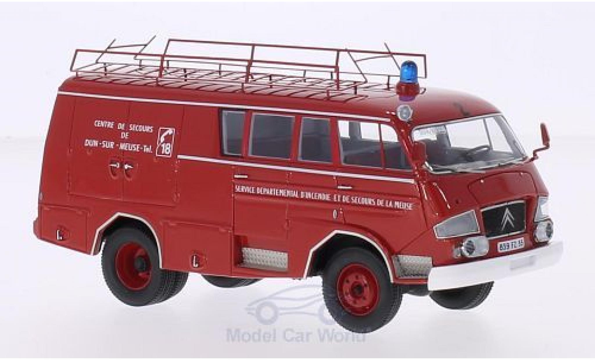 Citroen C3 1/43 AutoCult 50 Belphegor Guinard Centre de Secours de Dun-Sur-Meuse 1966 Feuerwehr (F)