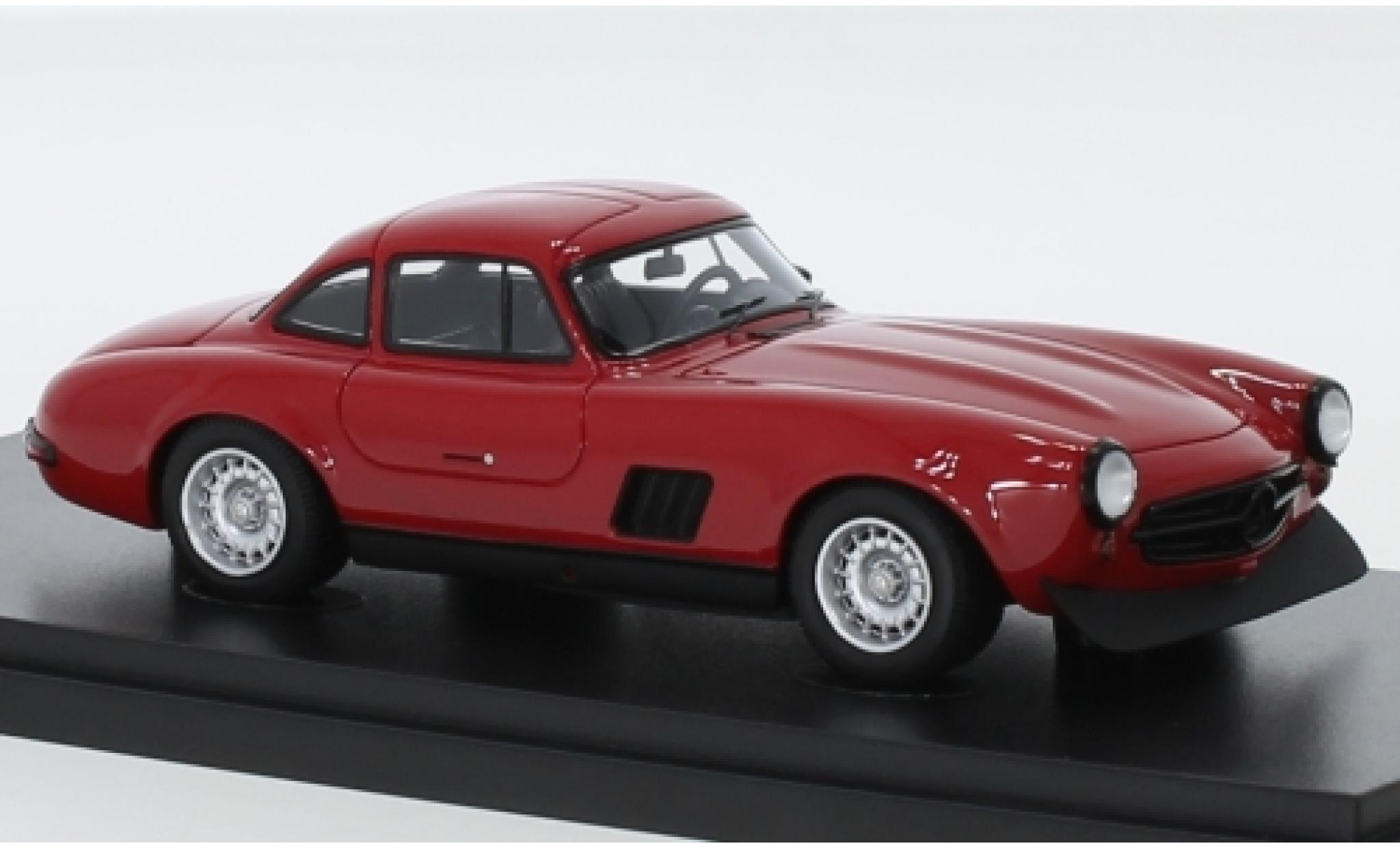 Mercedes 300 1/43 AutoCult Masterpiece SL (W198) AMG rouge 1974 K.F.Flick