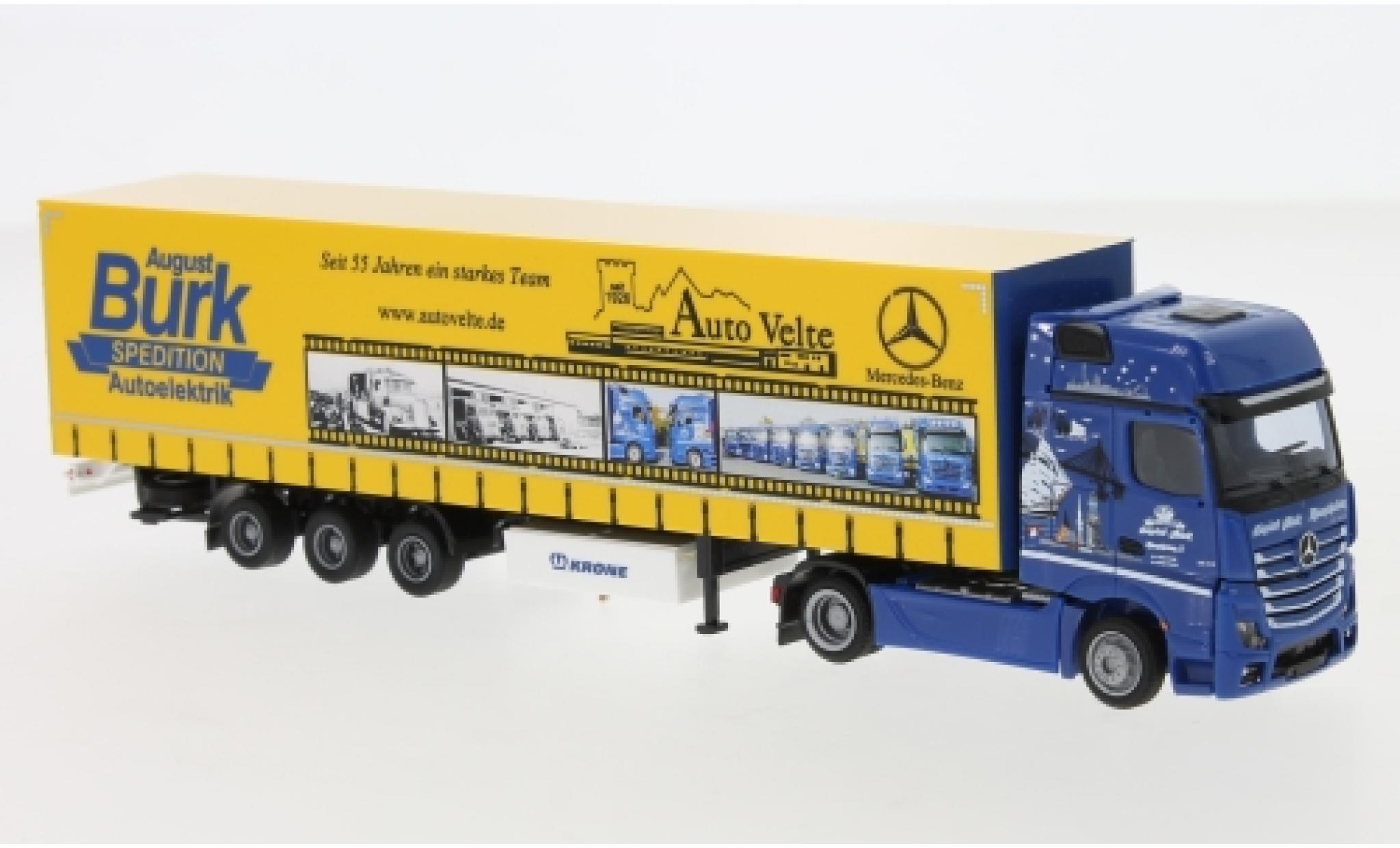 Mercedes Actros 1/87 AWM 2 Giga./Aerop. August Burk Spedition Mega-Gardinenplanensattelzug