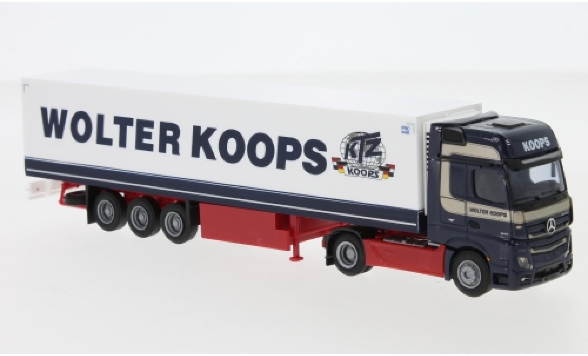 Mercedes Actros 1/87 AWM 5 GigaSpace/Aerop. Wolter Koops (NL) Remorque de boîte de réfrigération
