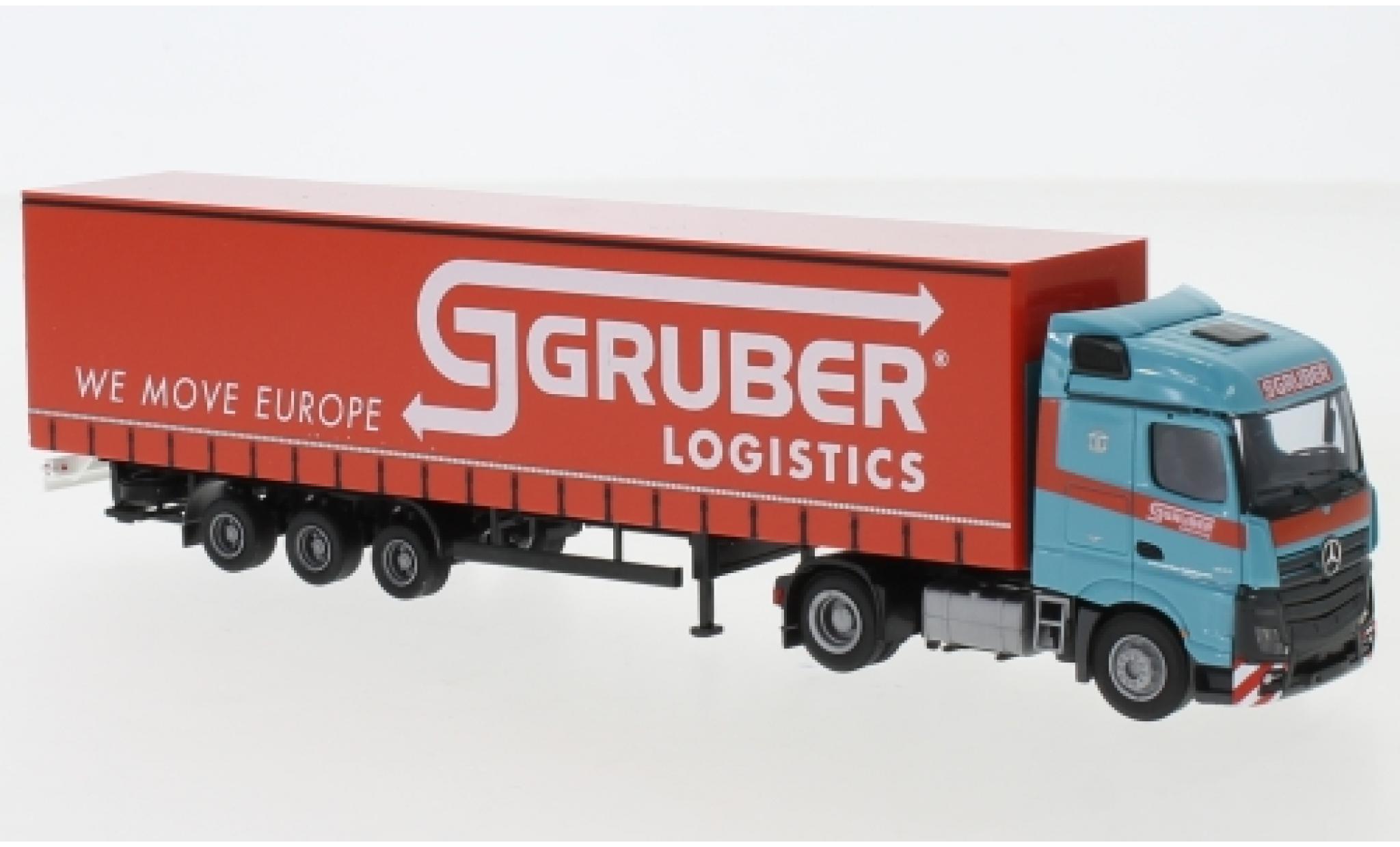 Mercedes Actros 1/87 AWM 5 StreamSpace/Aerop. Gruber Logistics camion avec bache