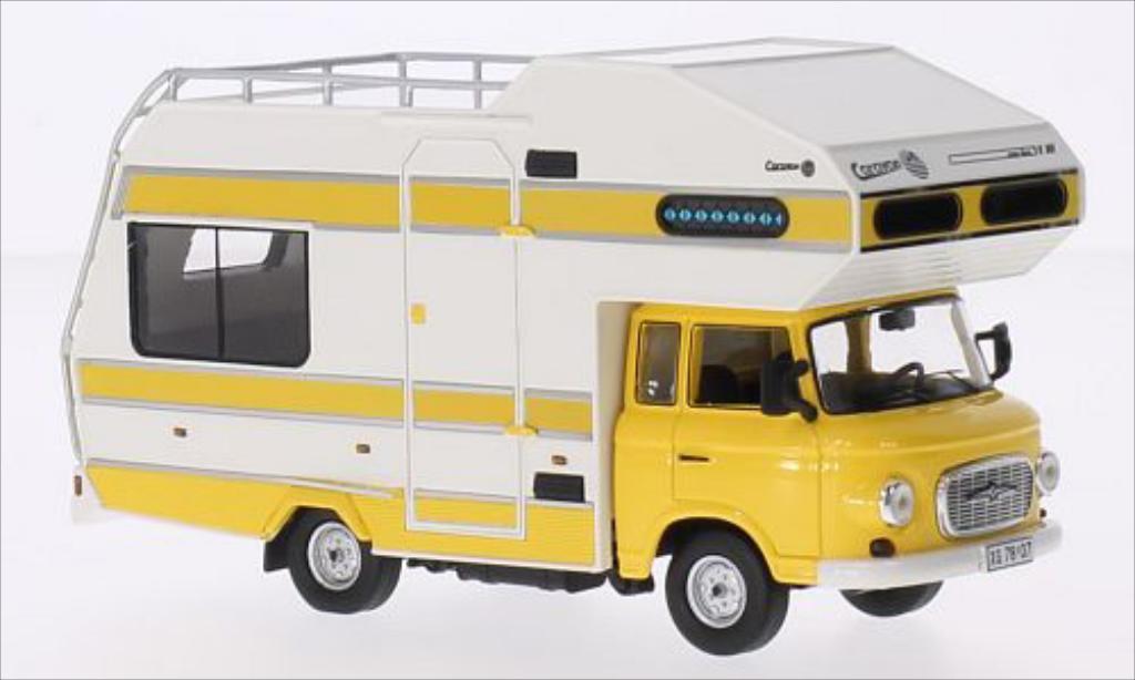 barkas b1000 wohnmobil gelb weiss 1973 mcw modellauto 1 43 kaufen verkauf modellauto online. Black Bedroom Furniture Sets. Home Design Ideas