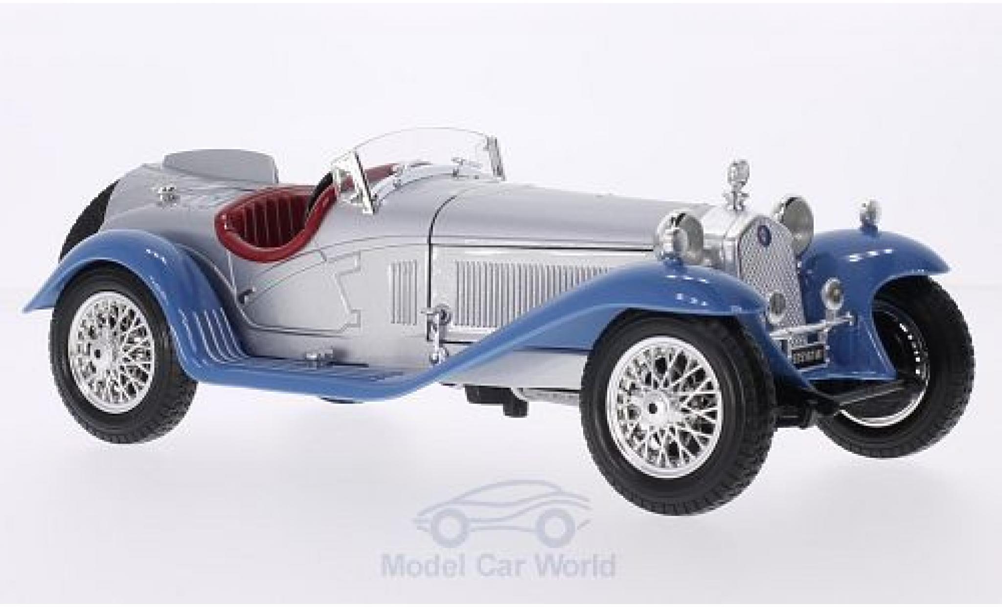 Alfa Romeo 8C 1/18 Bburago 2300 Spider Touring grise/bleue RHD 1932 ohne Vitrine