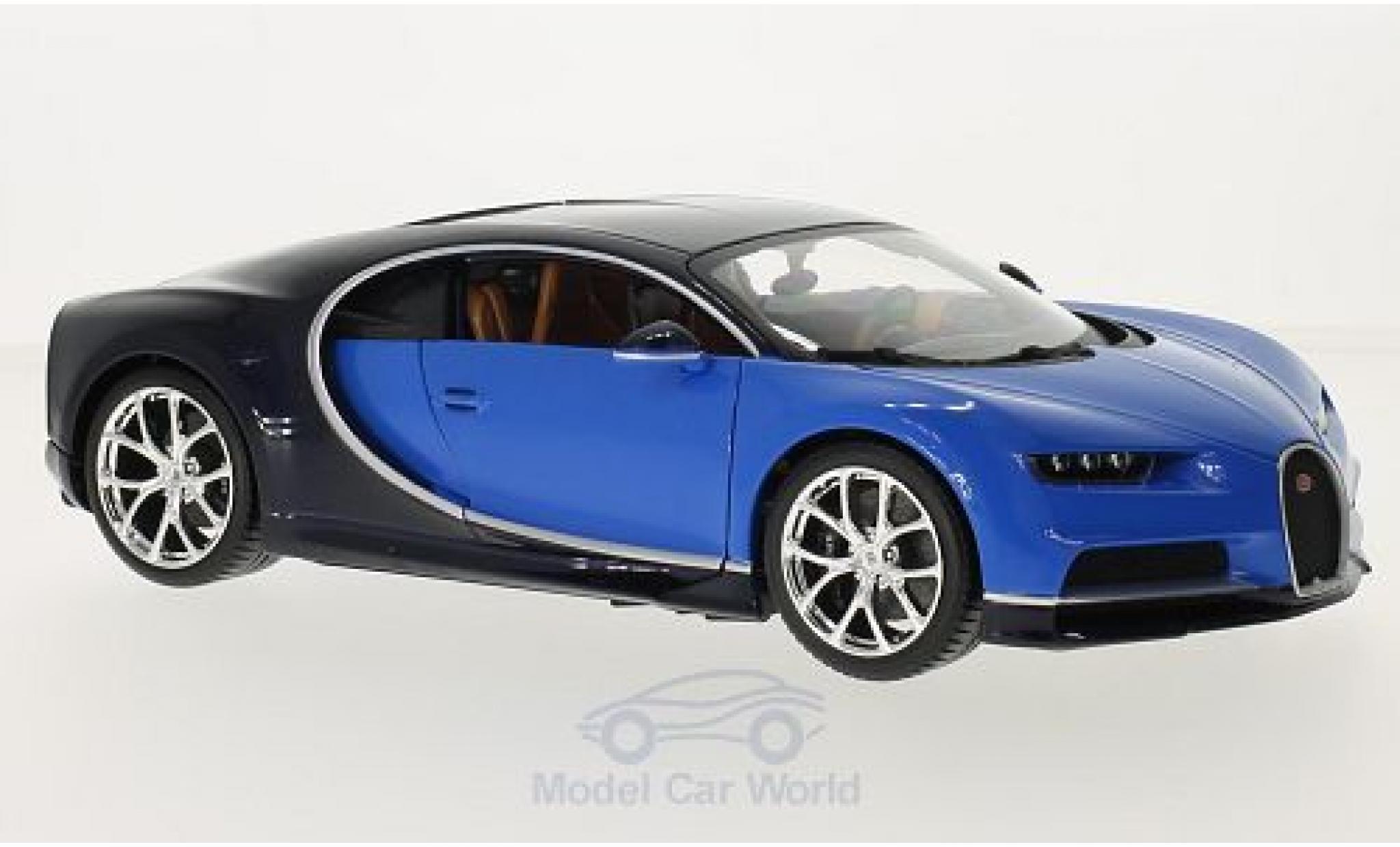 Bugatti Chiron 1/18 Bburago metallise bleue/bleue