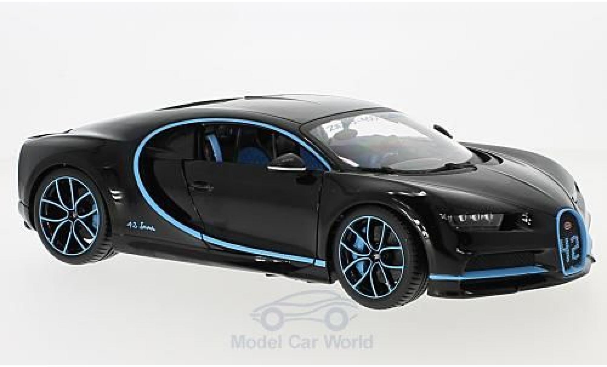 Bugatti Chiron 1/18 Bburago black Zero-400-Zero