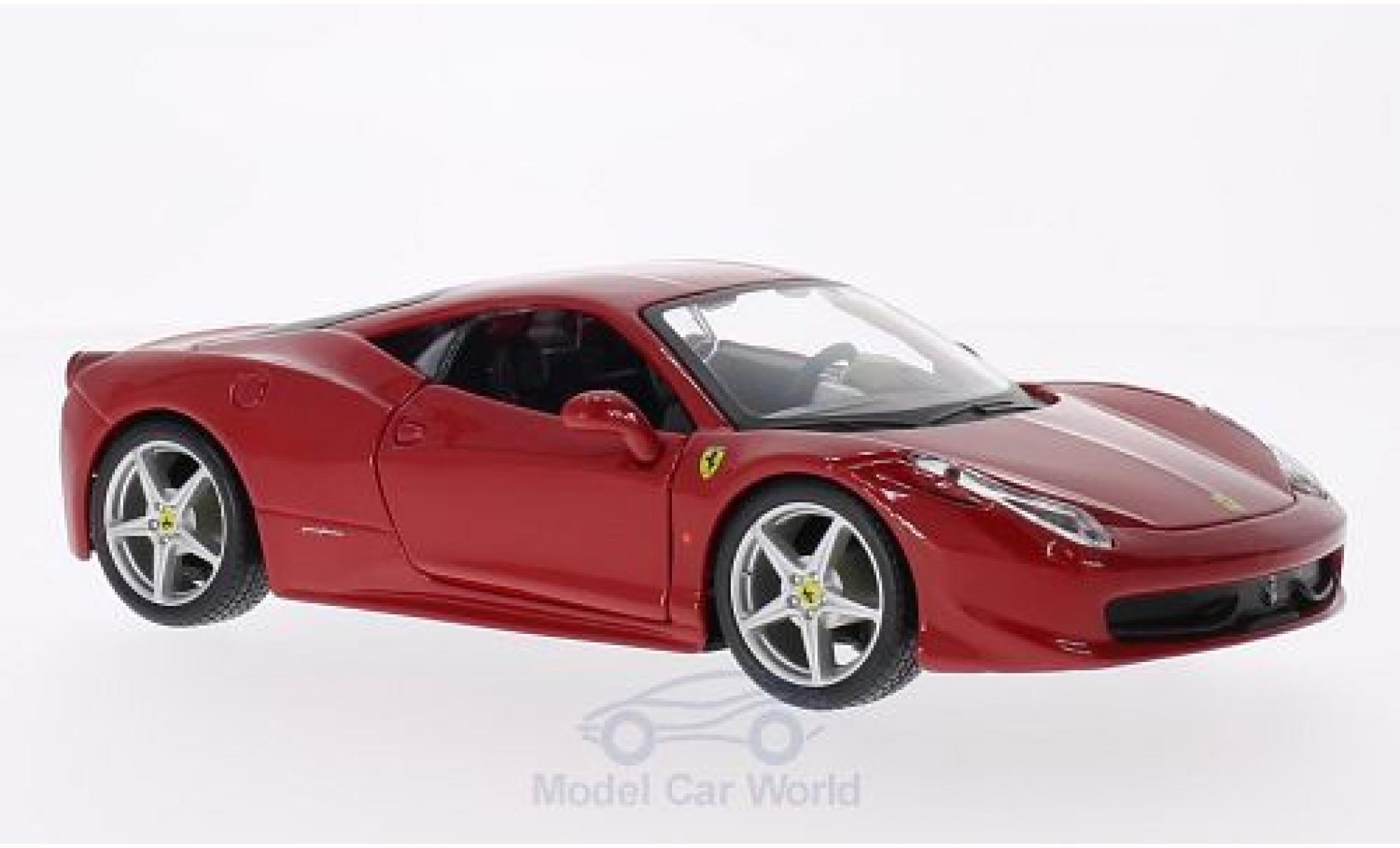 Ferrari 458 1/24 Bburago Italia rouge ohne Vitrine