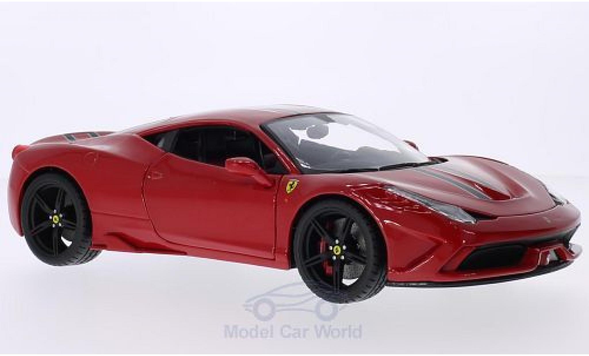 Ferrari 458 1/18 Bburago Speciale rouge/Dekor