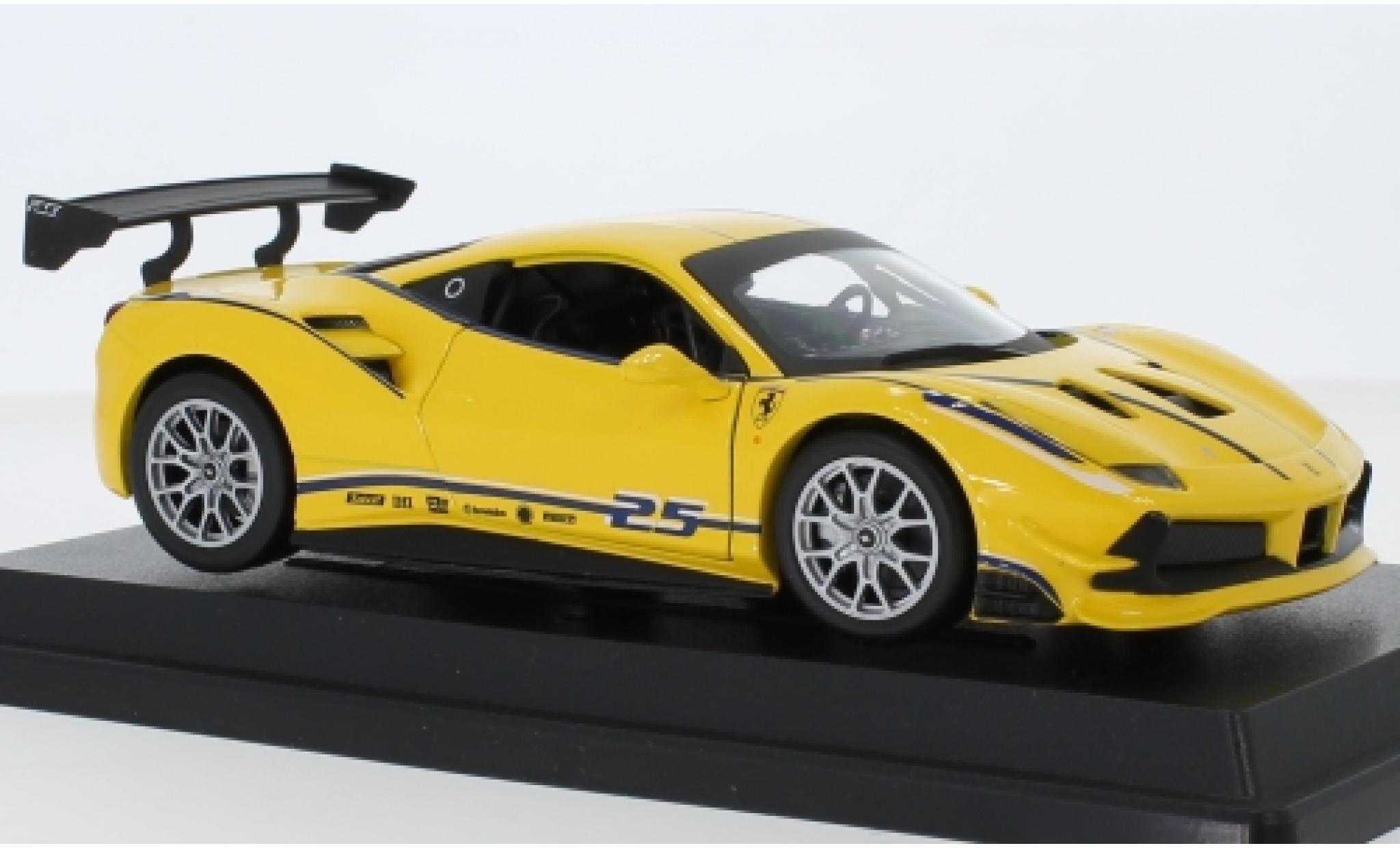 Ferrari 488 1/24 Bburago Challenge jaune No.25
