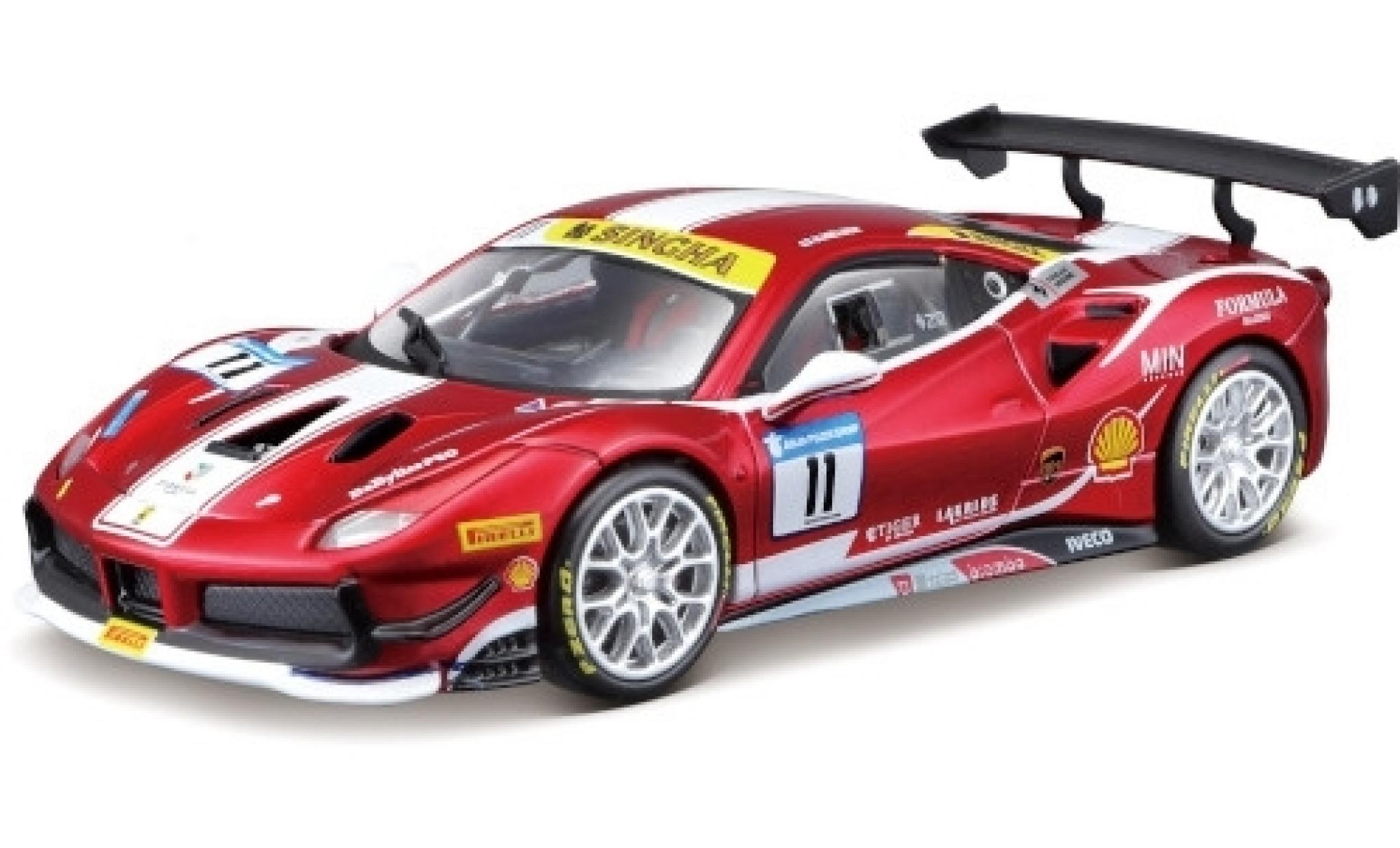 Ferrari 488 1/24 Bburago Challenge No.11 Formula Racing 2017 N.Nielsen