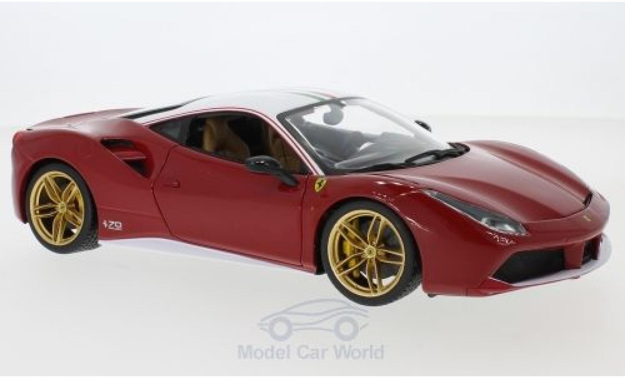 Ferrari 488 1/18 Bburago GTB rouge/blanche The Lauda 2017 70 Jahre