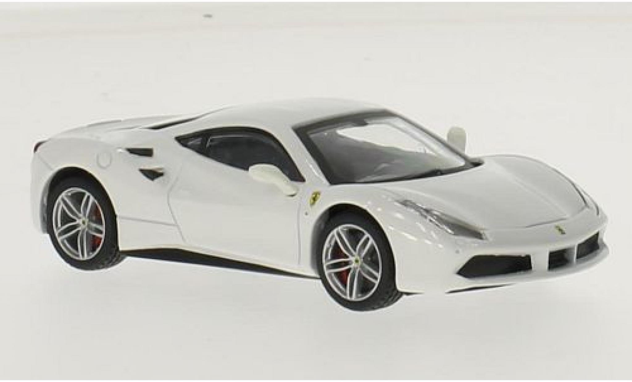 Ferrari 488 1/43 Bburago GTB blanche