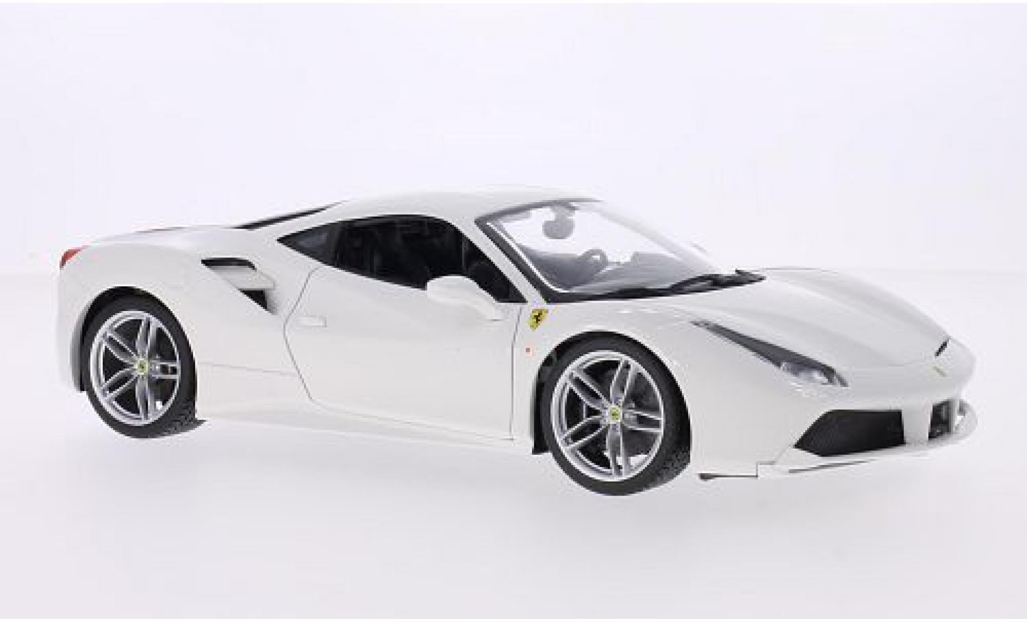 Ferrari 488 1/18 Bburago GTB blanche 2014