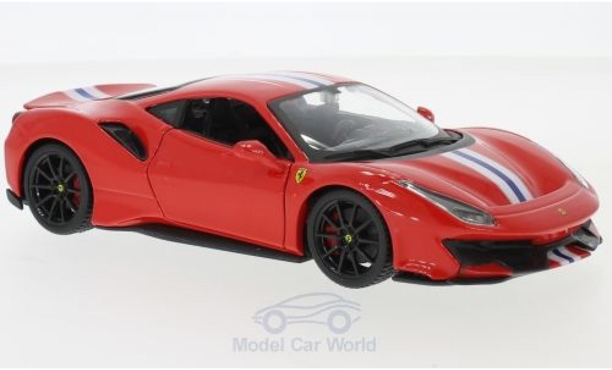 Ferrari 488 1/24 Bburago Pista rot/weiss 2018