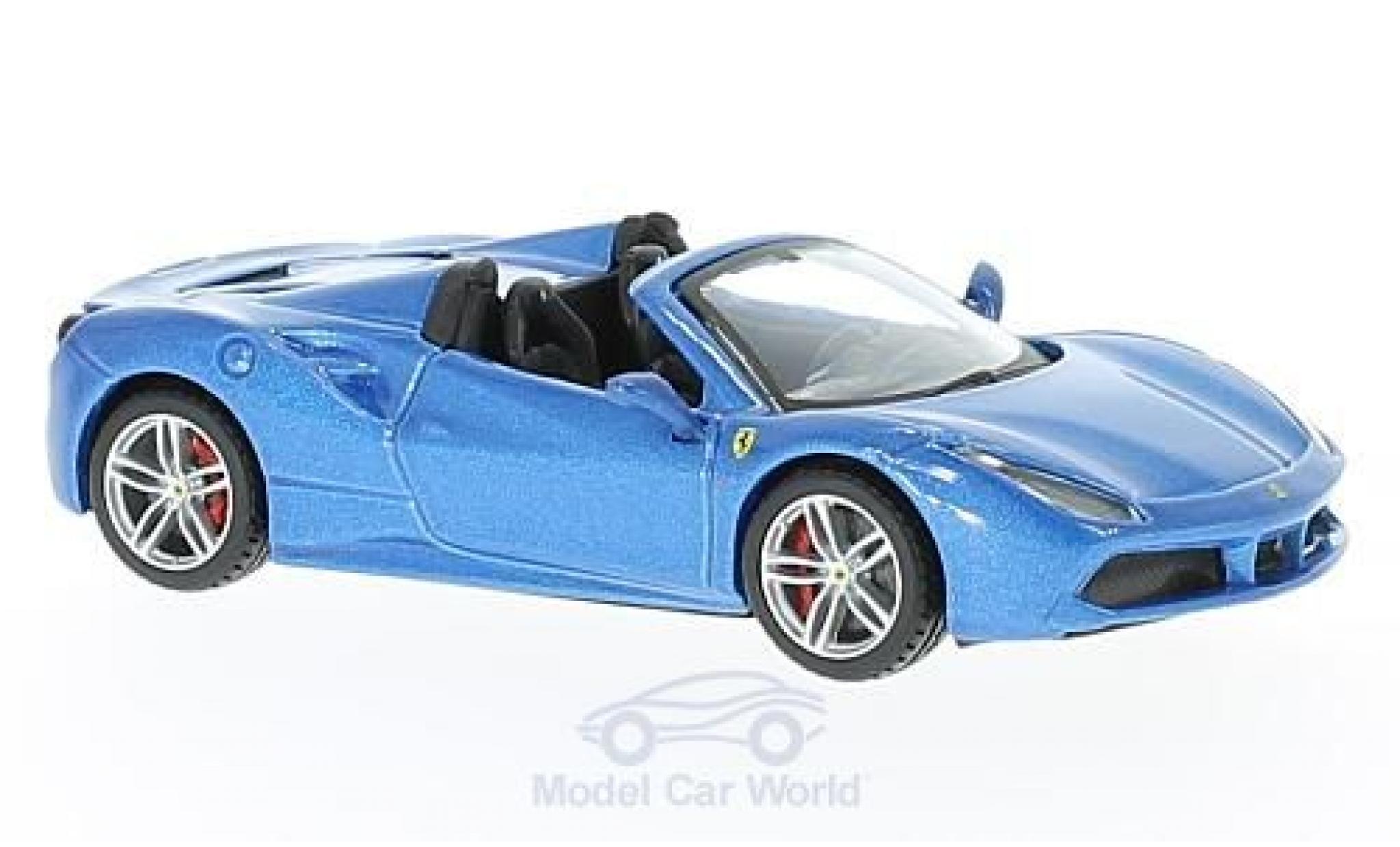 Ferrari 488 1/43 Bburago Spider metallise bleue 2016