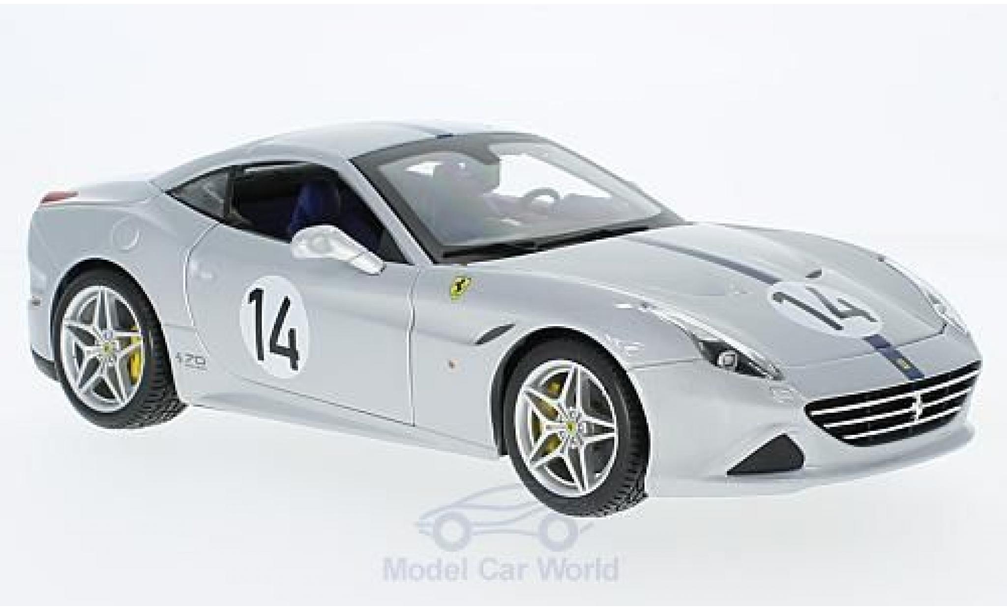 Ferrari California 1/18 Bburago T grise/bleue The Hot Rod 70 Jahre