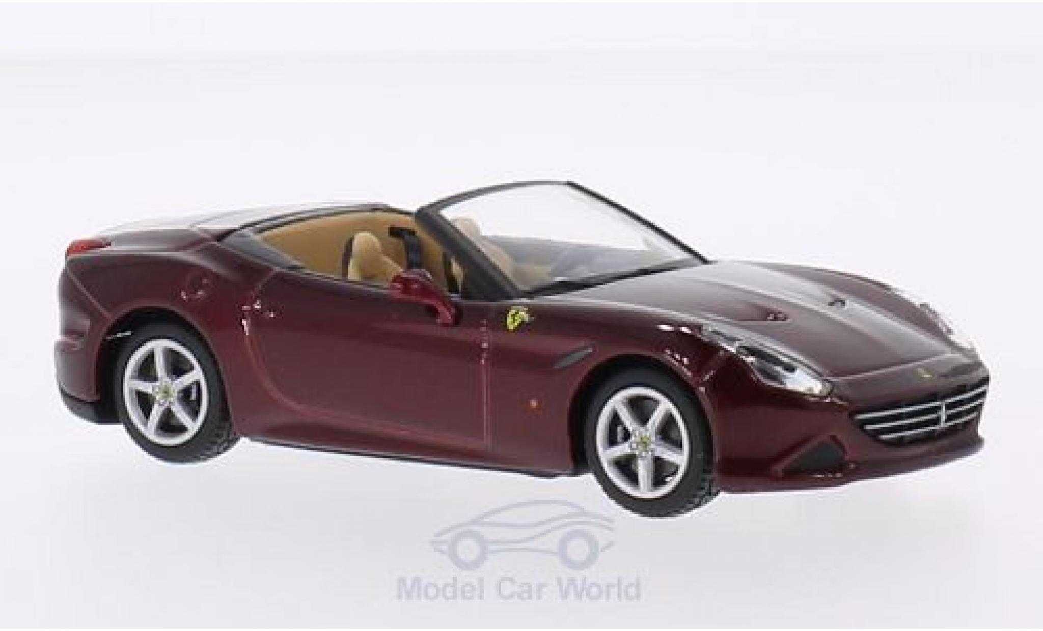 Ferrari California 1/43 Bburago T metallise rouge Dach geöffnet