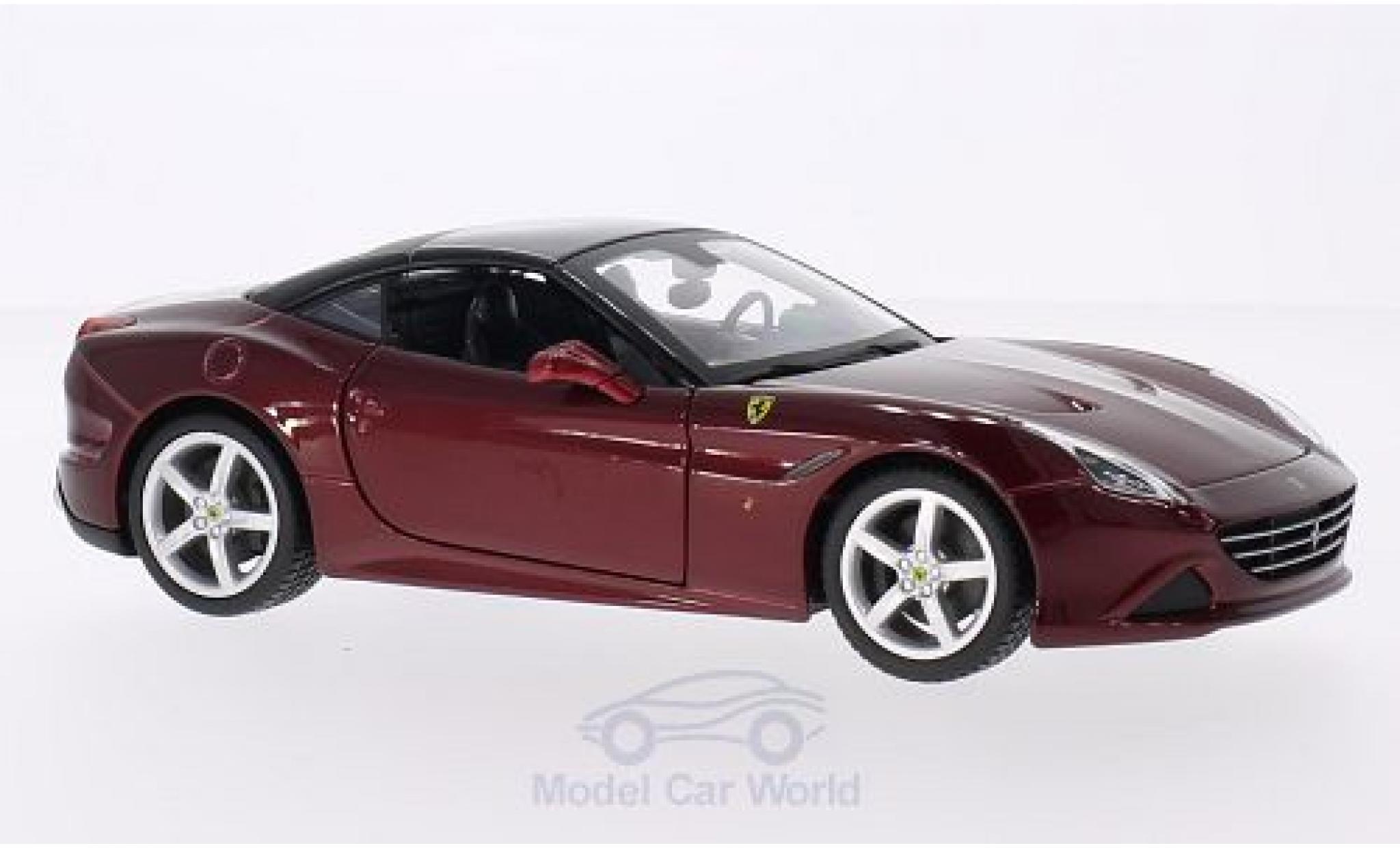 Ferrari California 1/24 Bburago T metallise rouge/noire 2014